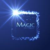发光的长方形星足迹传染媒介背景 EPS10 免版税库存图片