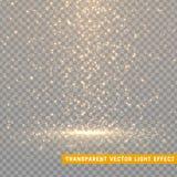 发光的闪烁光线影响隔绝了现实 圣诞节装饰设计元素 阳光透镜火光元素 向量例证