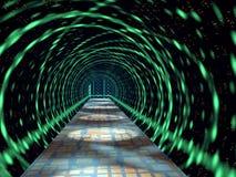 发光的隧道 库存图片