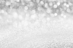 发光的雪背景  图库摄影