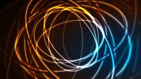 发光的霓虹椭圆,明亮的踪影录影动画 向量例证