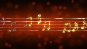 发光的音乐注意继续前进板料,热恋歌曲,浪漫背景 皇族释放例证