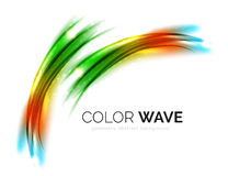 发光的颜色波浪 库存图片