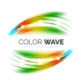 发光的颜色波浪 免版税库存图片