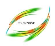 发光的颜色波浪 免版税图库摄影