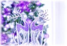 发光的驯鹿装饰 免版税库存照片