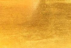 发光的黄色叶子金箔纹理 免版税图库摄影