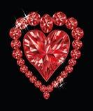 发光的水晶爱心脏 免版税库存图片