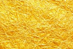 发光的黄色叶子金箔纹理 免版税库存图片