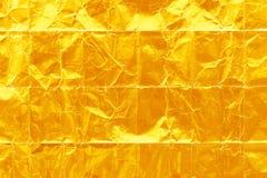 发光的黄色叶子金箔纹理 图库摄影