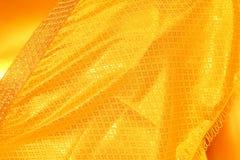 发光的黄色叶子金箔纹理 库存图片