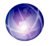 发光的紫色地球 向量例证