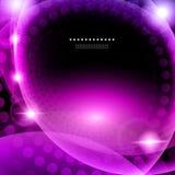 发光的紫色抽象背景 库存图片