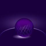 发光的紫色球抽象 库存照片