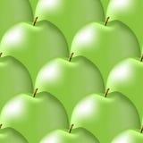 发光的绿色苹果的无缝的样式 库存照片