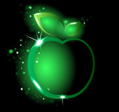 发光的绿色苹果 免版税库存照片