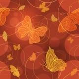 发光的蝴蝶传染媒介无缝的样式 库存照片