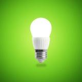 发光的LED节能电灯泡 免版税库存图片