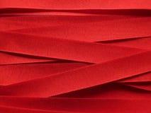 发光红色丝带的缎 库存图片