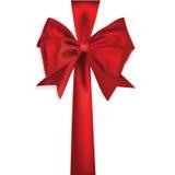 发光红色丝带的缎 免版税库存图片