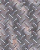 发光镀铬物的diamondplate 库存图片