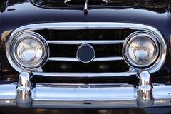 发光黑色的汽车 免版税库存图片