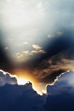 发出光线天空 库存照片