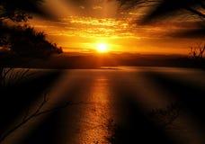 发出光线太阳 库存照片