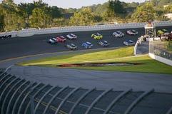 发动在Daytona 500的汽车在Daytona海滩,佛罗里达 免版税库存图片