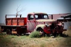 发动机起火卡车 库存图片