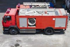 发动机起火救火车老显示 免版税库存图片