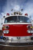 发动机起火救火车老显示 免版税库存照片