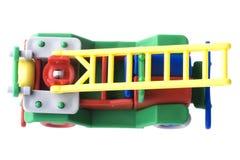 发动机起火查出的玩具白色 库存图片