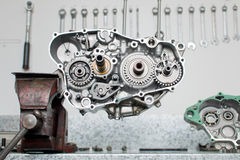 发动机零件 库存照片