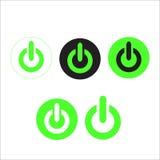 发动象和力量按钮 免版税库存照片