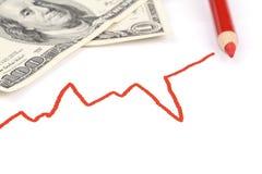 发单企业美元图形红色我们 免版税库存图片