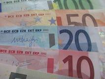 发单欧元 库存图片