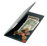发单硬币美元欧洲usd 库存照片