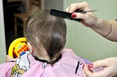 发型一个岁孩子 免版税图库摄影