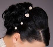 发型婚礼 免版税库存照片