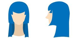 发型 向量例证