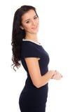 黑发妇女年轻人 免版税库存图片