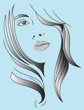 头发妇女 免版税库存图片