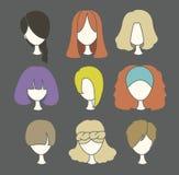 头发妇女 免版税库存照片