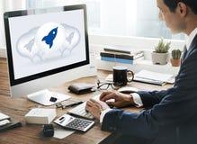 发射开始开始开始新的企业概念 免版税库存图片