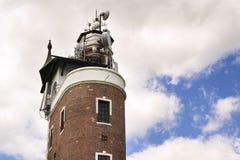 发射机和天线在Schillers监视在Kryry,捷克 免版税图库摄影