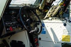 发射的导弹驻地IRIS-T SLS的司机室 库存图片
