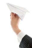 发射的纸飞机 免版税图库摄影