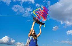 发射船风筝 免版税图库摄影