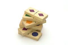 发展木的玩具 免版税库存图片